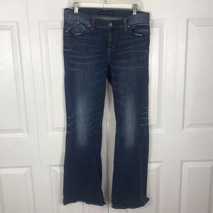 Rock & Republic Blue Distressed Flare Leg Jeans